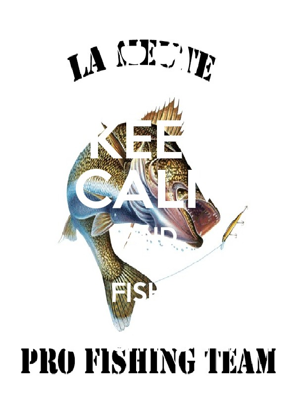 Keep calm and go fish with pro fishing team poster for I fish pro