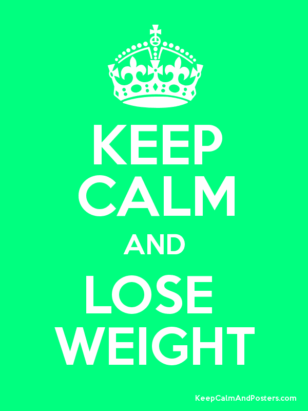 KEEP CALM AND LOSE  WEIGHT Poster