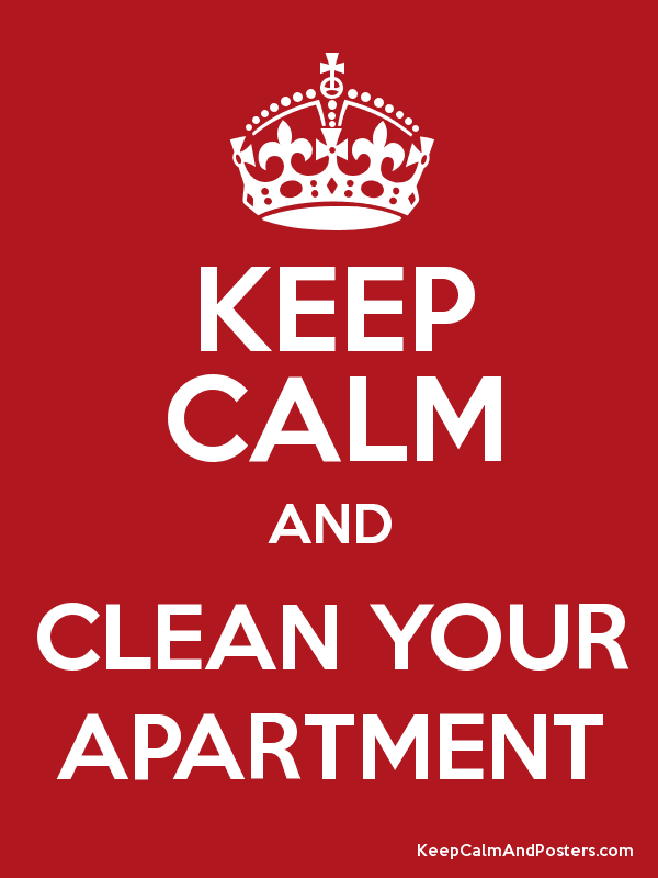 KEEP CALM AND CLEAN YOUR APARTMENT - Keep Calm and Posters ...