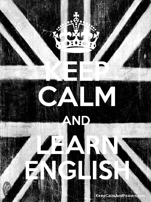 Keep calm and learn english poster