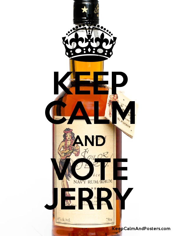 KEEP CALM AND VOTE JERRY - Keep Calm and Posters Generator