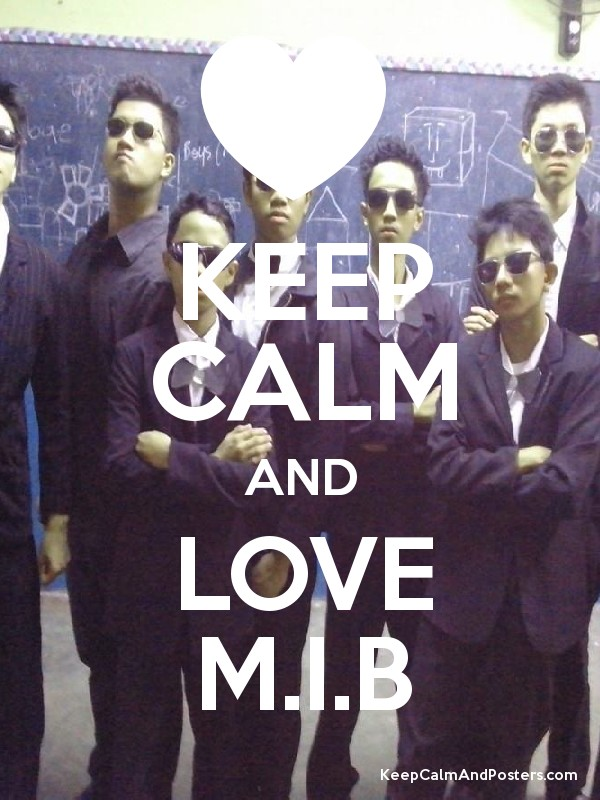 Keep Calm And Love Mib Keep Calm And Posters Generator