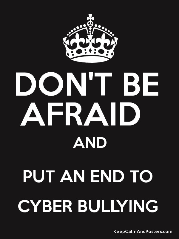 put an end to cyber bullying Help stop cyberbullying most kids don't bully, and there's no reason for anyone to put up with it if your child sees cyberbullying happening to someone else, encourage him or her to try to stop it by telling the bully to stop and by not engaging or forwarding anything.
