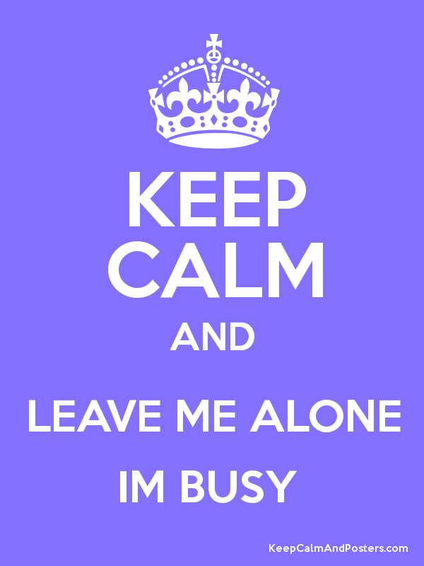 Im busy sign