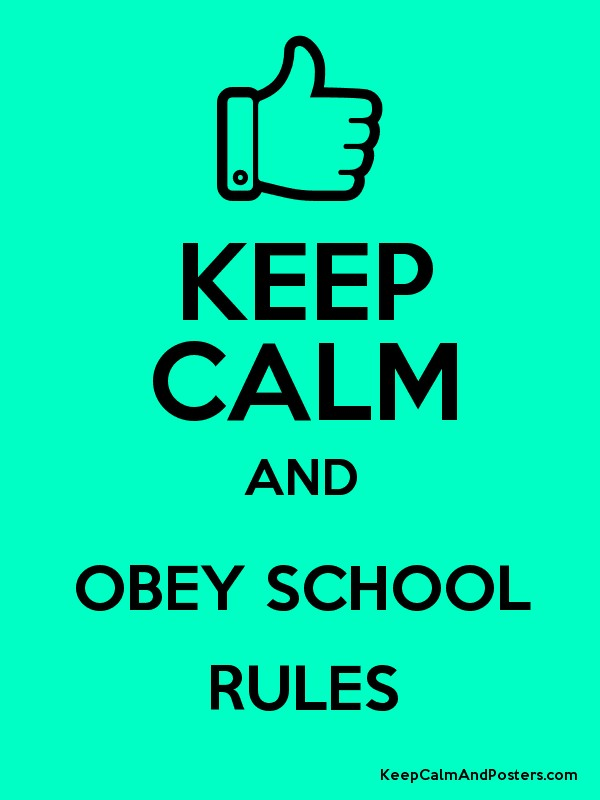obeying school rules Reasons why students violate school rules and regulations  why it is  important to obey military rules and regulation military discipline.