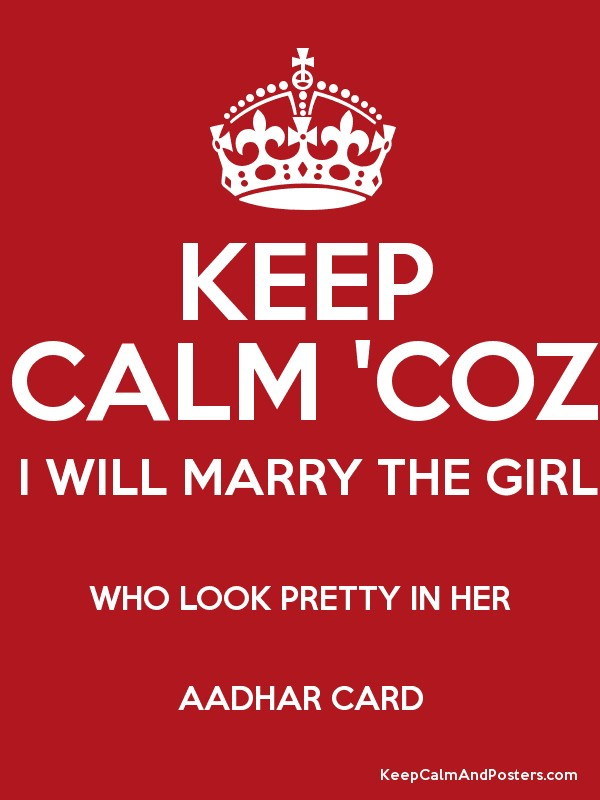 Marry a girl who