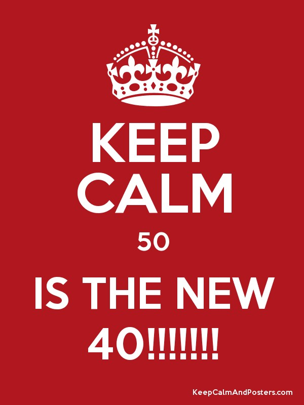 keep calm 50 is the new 40 keep calm and posters generator