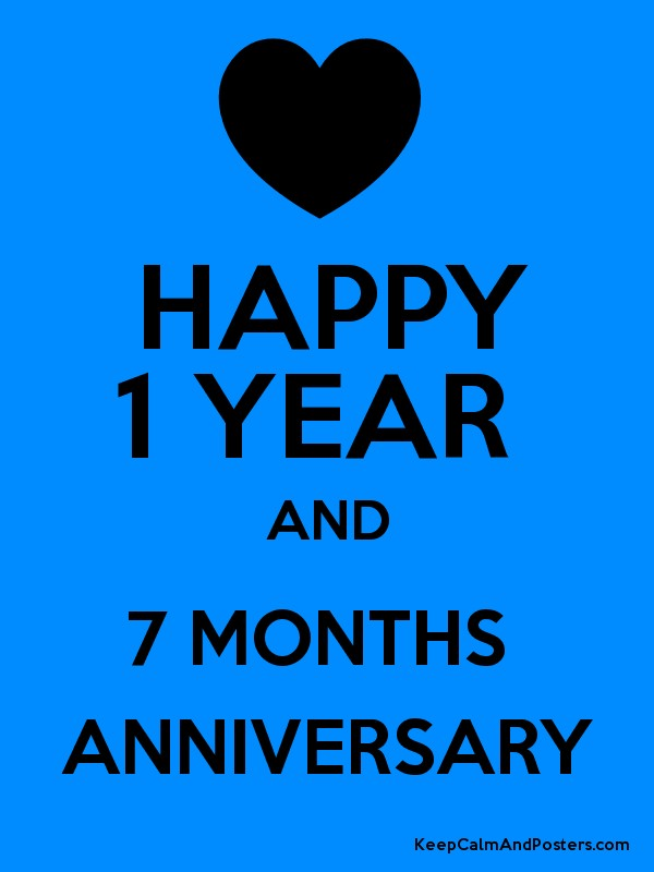 happy 1 year and 7 months anniversary keep calm and posters