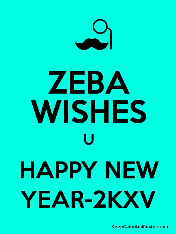 zeba wishes u happy new year 2kxv poster