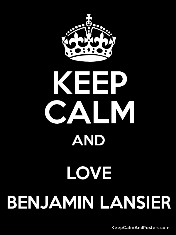 KEEP CALM AND LOVE BENJAMIN LANSIER Poster