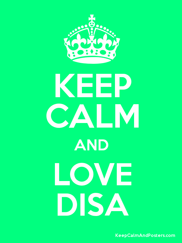 KEEP CALM AND LOVE DISA - Keep Calm and Posters Generator