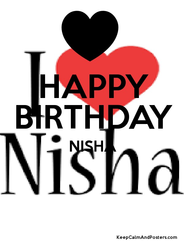 Happy Birthday Nisha Keep Calm And Posters Generator Maker For