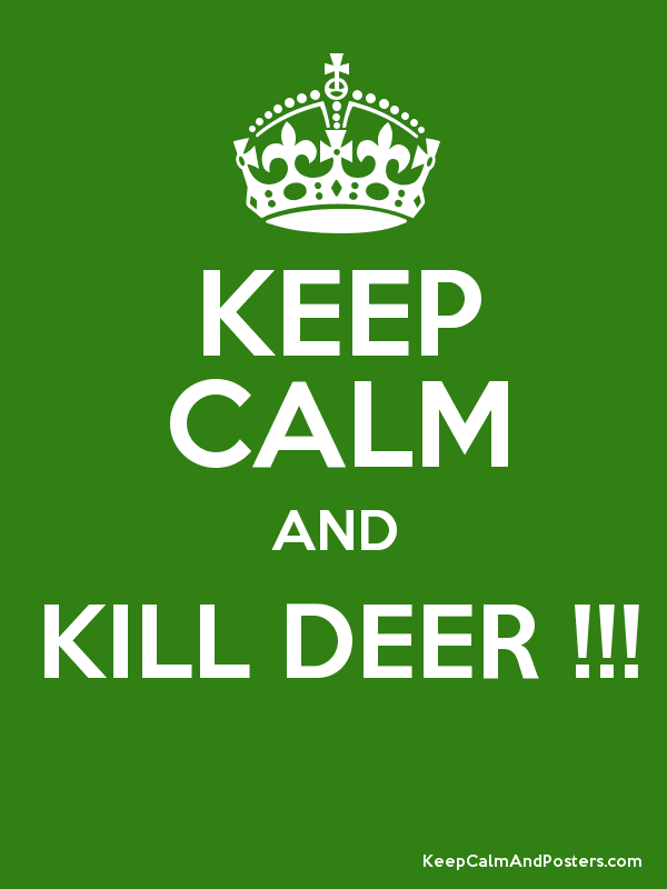 KEEP CALM AND KILL DEER !!!  Poster