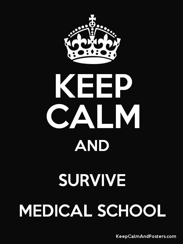 KEEP CALM AND SURVIVE MEDICAL SCHOOL - Keep Calm and Posters