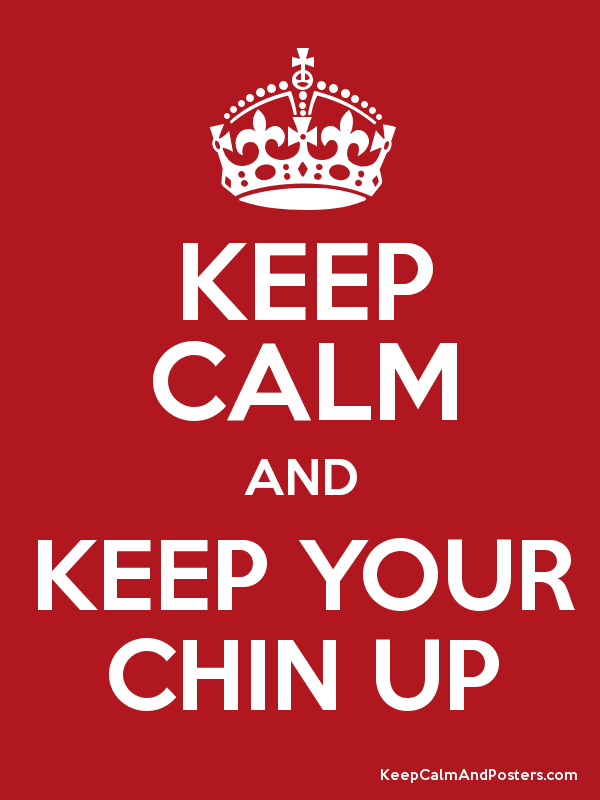 KEEP CALM AND KEEP YOUR CHIN UP Poster