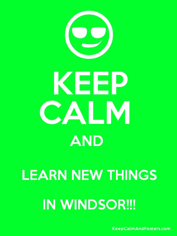 keep calm and learn new things in keep calm and posters generator maker for free