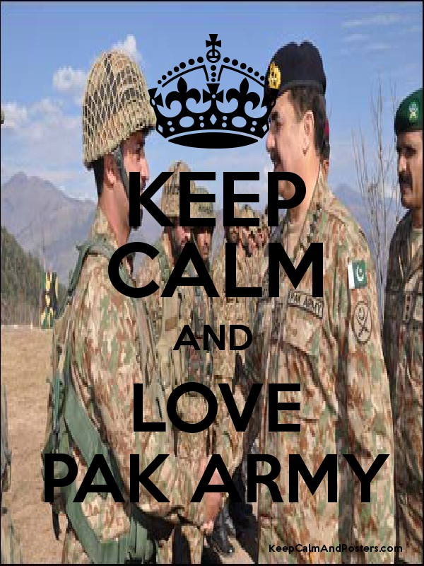 KEEP CALM AND LOVE PAK ARMY - Keep Calm and Posters