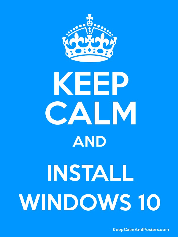 windows 10 poster