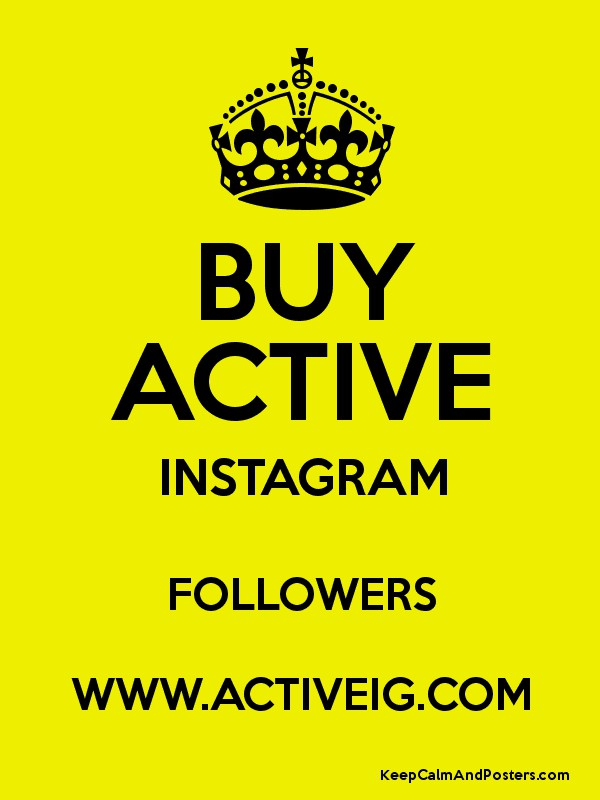 Buy active instagram followers www activeig com keep for Buy cheap posters online