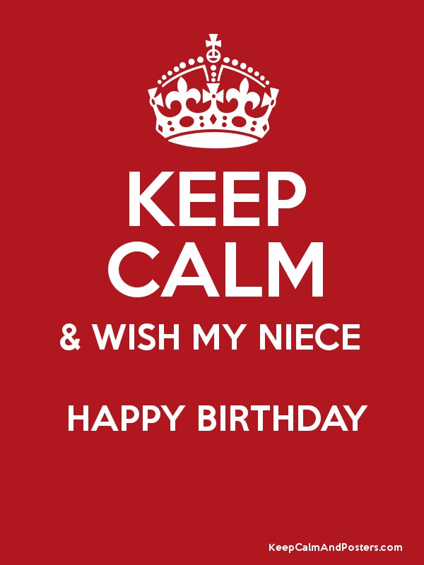 Happy Birthday Niece Images Free Download ~ Keep calm wish my niece happy birthday and