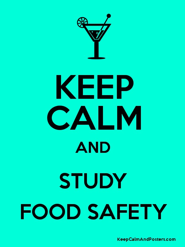 KEEP CALM AND STUDY FOOD SAFETY - Keep Calm and Posters Generator