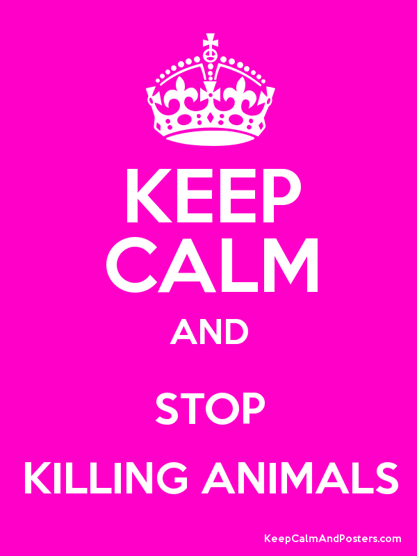 KEEP CALM AND STOP KILLING ANIMALS Poster