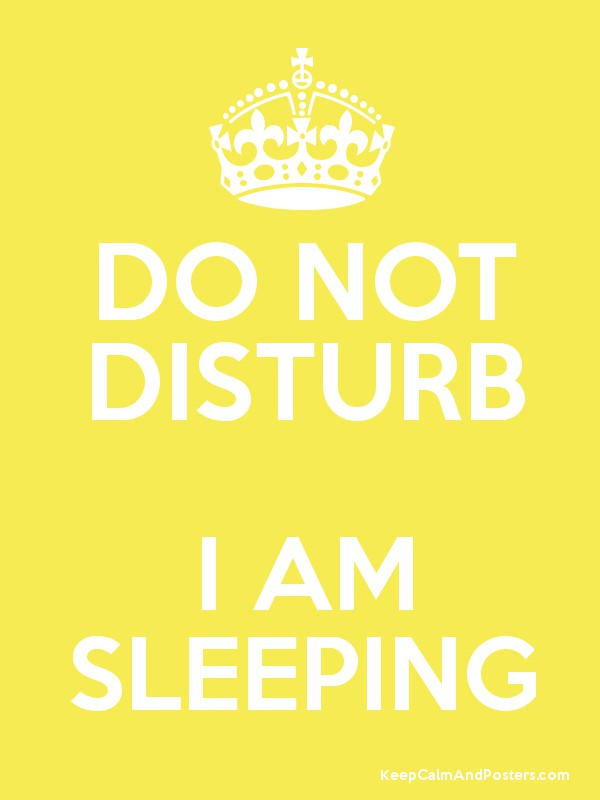 do not disturb i am sleeping keep calm and posters