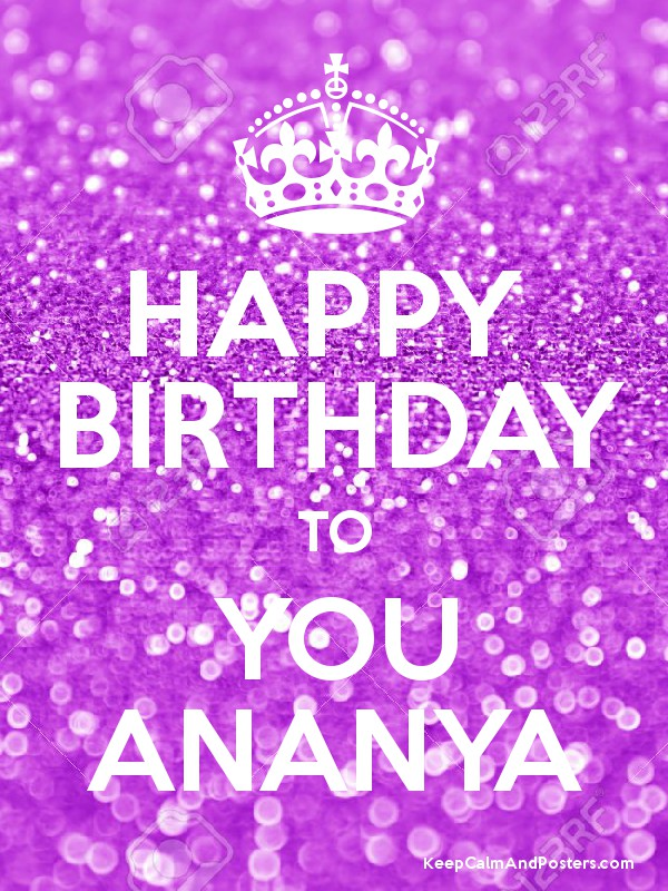 Happy Birthday To You Ananya Keep Calm And Posters Generator