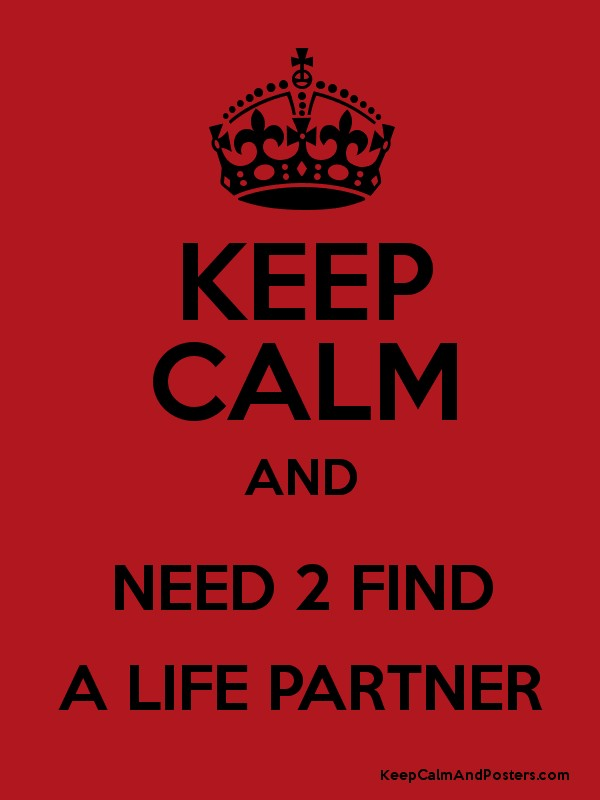 KEEP CALM AND NEED 2 FIND A LIFE PARTNER - Keep Calm and Posters