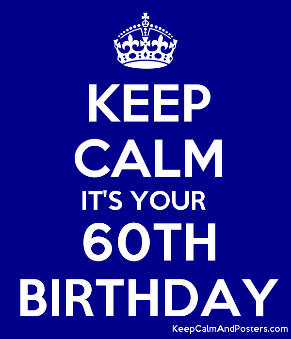 KEEP CALM ITS YOUR 60TH BIRTHDAY Poster