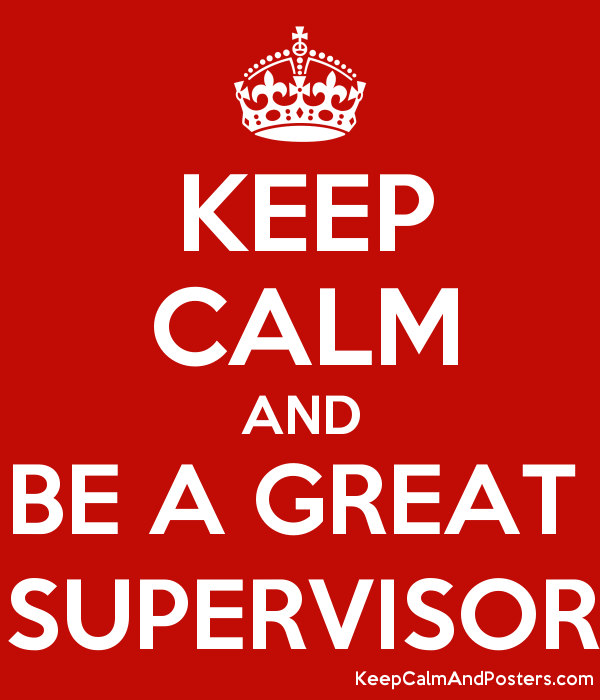 what is a good supervisor