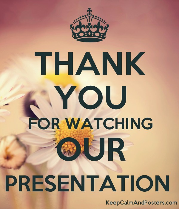 thank you for watching our presentation keep calm and posters