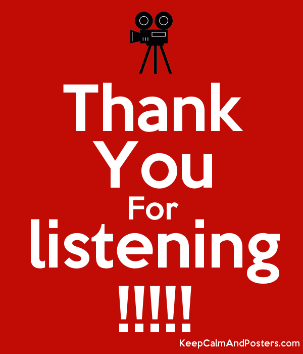 thank you for listening keep calm and posters generator