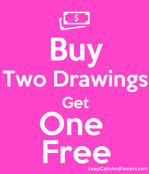 Buy two drawings get one free keep calm and posters for Buy cheap posters online