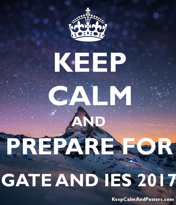 KEEP CALM AND PREPARE FOR GATE AND IES 2017 Poster