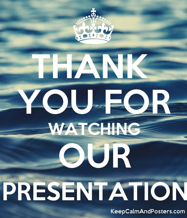 THANK YOU FOR WATCHING OUR PRESENTATION - Keep Calm and Posters ...