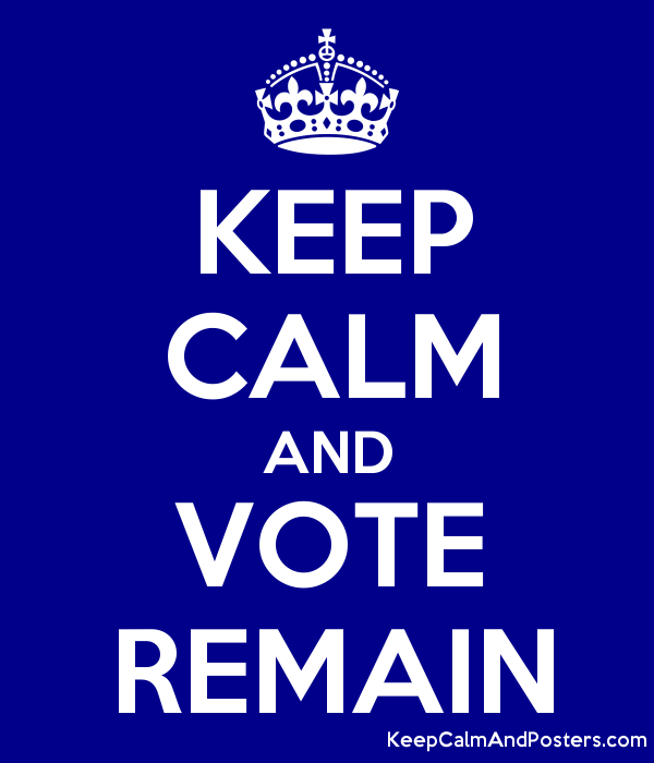 KEEP CALM AND VOTE REMAIN - Keep Calm and Posters Generator, Maker ...