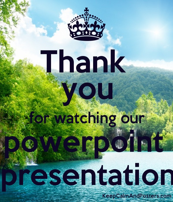 how to end a powerpoint presentation with a thank you