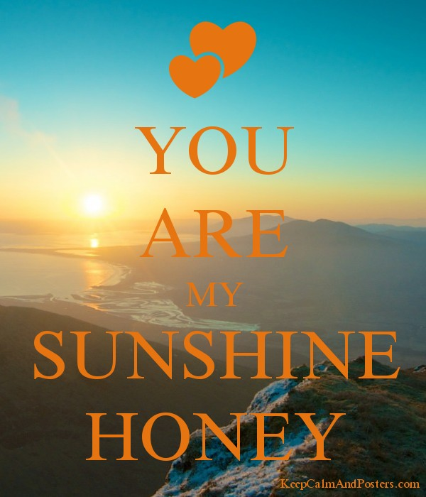 You Are My Sunshine Honey Poster