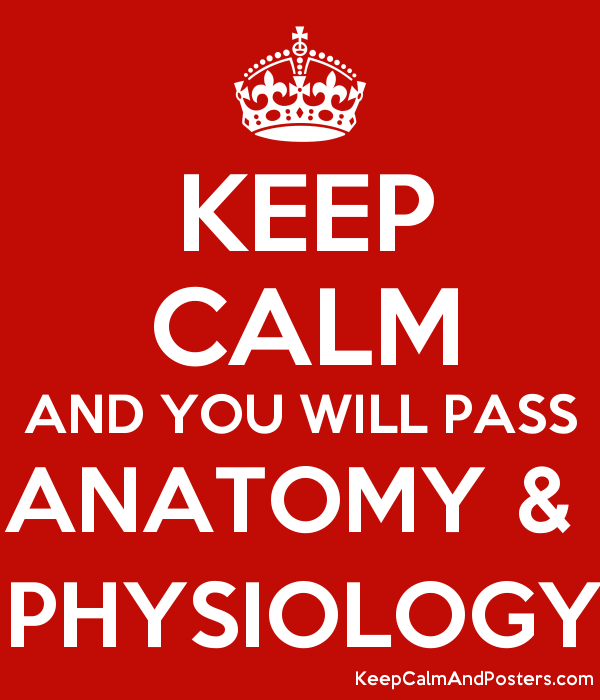 KEEP CALM AND YOU WILL PASS ANATOMY & PHYSIOLOGY - Keep Calm and ...