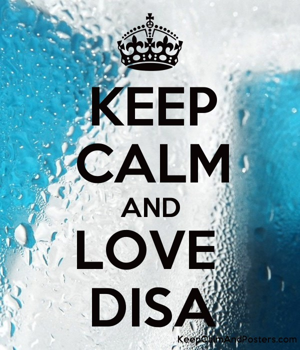 KEEP CALM AND LOVE DISA - Keep Calm and Posters Generator, Maker For