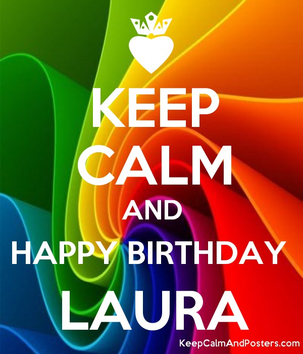 KEEP CALM AND HAPPY BIRTHDAY  LAURA Poster