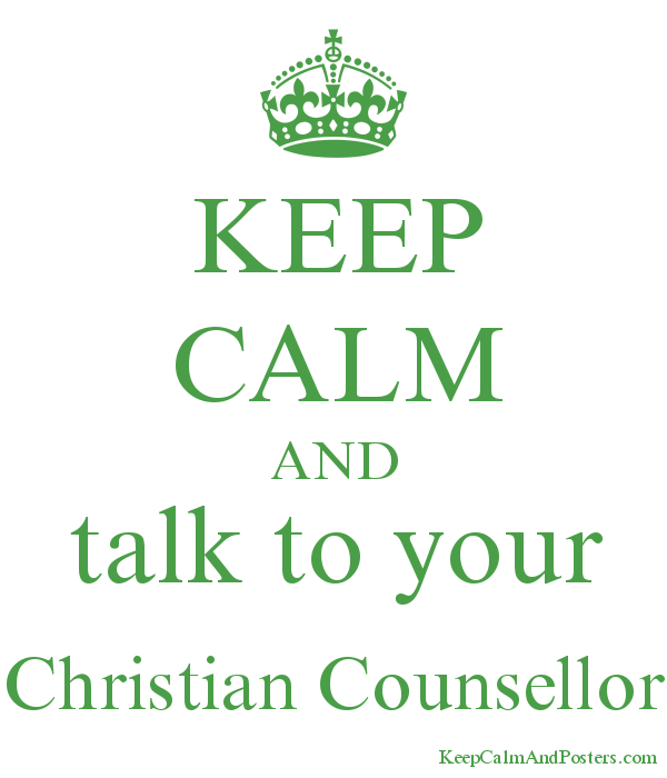 KEEP CALM AND talk to your Christian Counsellor Poster