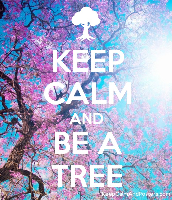 KEEP CALM AND BE A TREE Poster