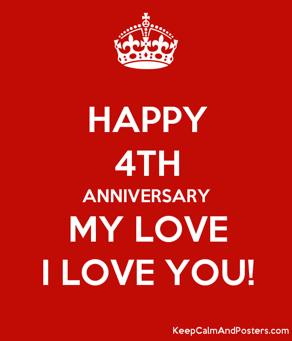 happy 4th anniversary my love