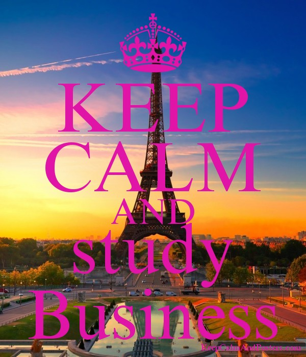 keep calm and study business poster
