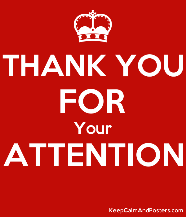 thank you for your attention keep calm and posters generator