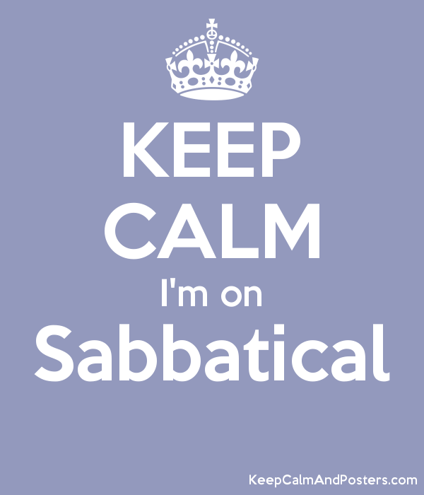 Image result for I'm on sabbatical