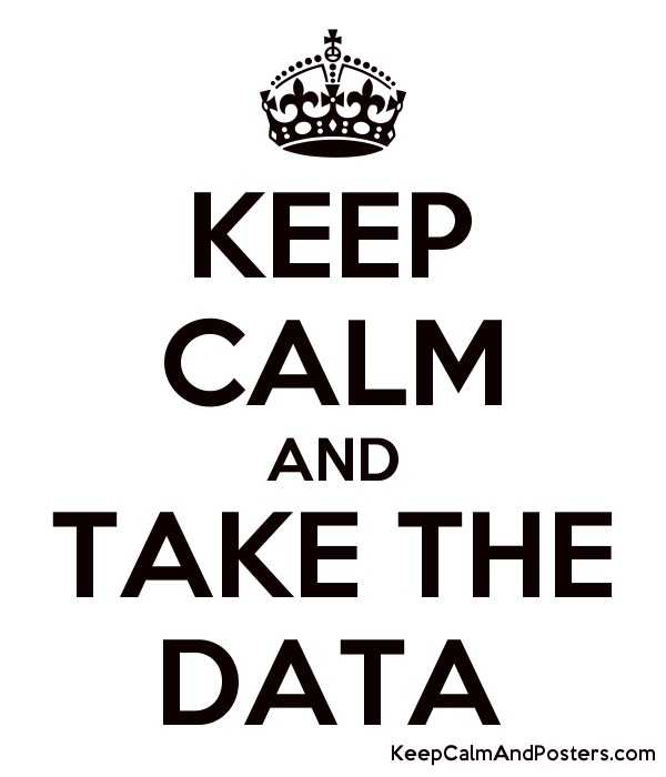 KEEP CALM AND TAKE THE DATA Poster