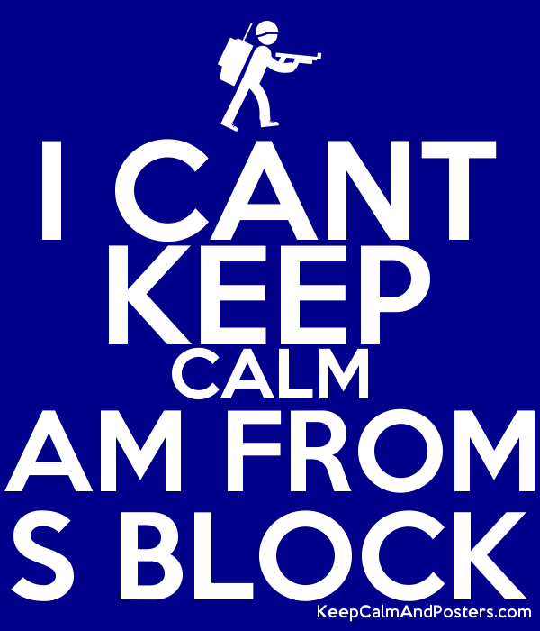 i cant keep calm am from s block keep calm and posters generator